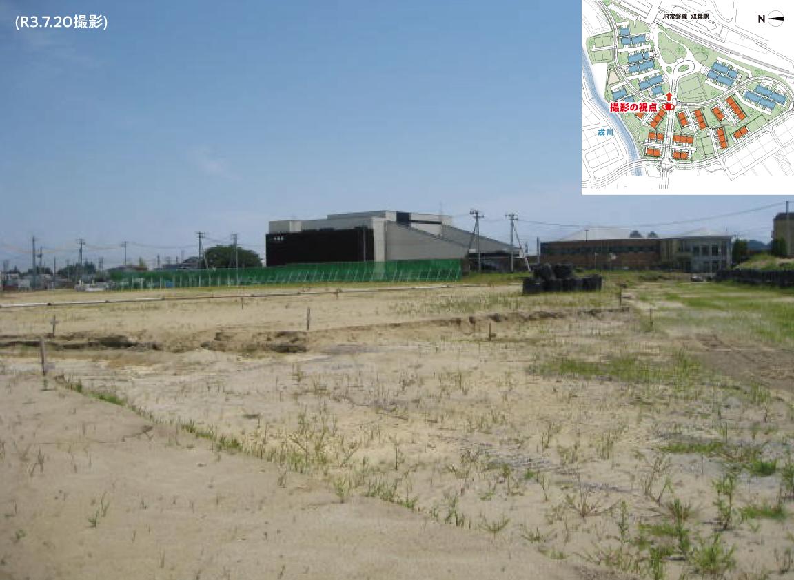現在の現地の様子 その7「蛭子堂・町西線からみた双葉駅の様子 」